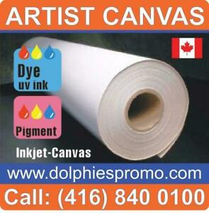 Blank Roll of Fine Quality Polyest Matte Art Canvas Artist ARTISTIC Supply for Inkjet Canvas Prints Printing - $129/roll Toronto (GTA) Preview