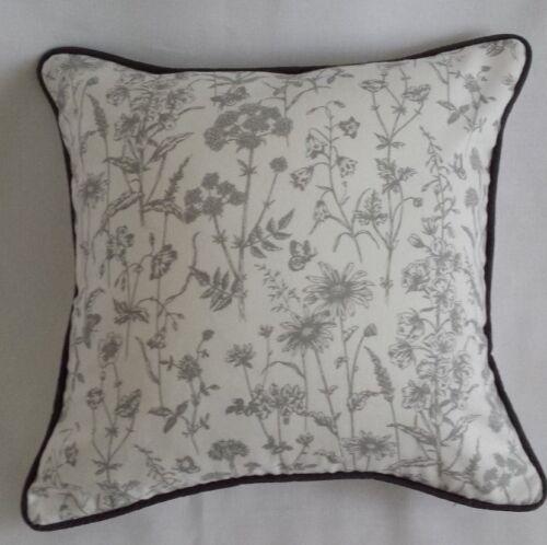 Handmade Cushion Cover in Laura Ashley LISETTE blanc//acier floral tissu