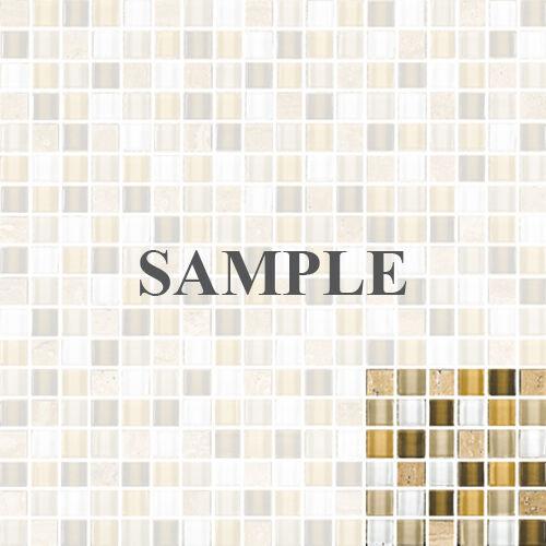 SAMPLE White Yellow Brown marble Stone Glass Mosaic Tile Kitchen Backsplash Spa
