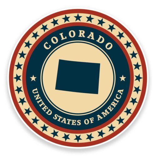 2 X Pegatina De Vinilo De Colorado USA Coche Viaje Equipaje #9372