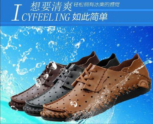 Fashion Retro Mens Leather Lace up Flat Comfy Driving Moccasins Casual Shoes NEW