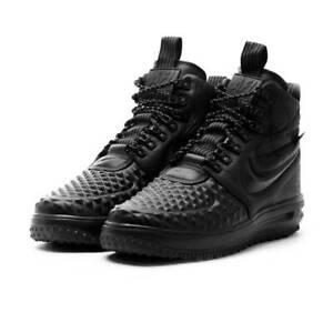 Men's Nike Lunar Force 1 Duckboot 17 KPU Charcoal Gray Black White Boys Casual Shoes NIKE003853