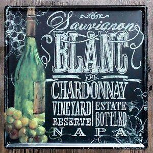 Metal Tin Sign chardonnay sauvignon Bar Pub Vintage Retro Poster Cafe ART