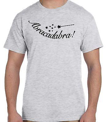 Abracadabra Magic Word Wand Star Bible Incanatation Custom Tee T Shirt T-Shirt