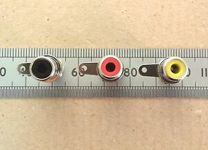 RCA-Phono-Socket-Panel-Mount-Various-Colours