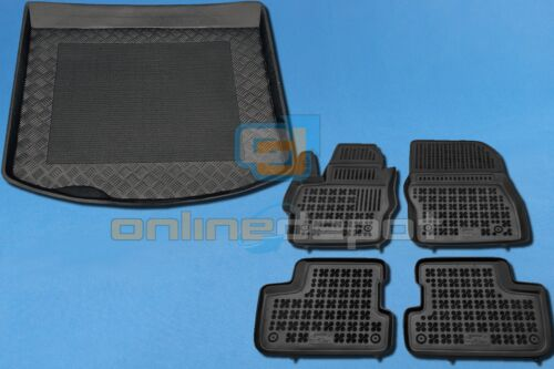 Gummi-Fußmatten+Kofferraumwanne MAZDA 3 II III 2003-2013