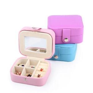 Portable-Travel-Jewelry-Box-Organizer-Leather-Case-Storage-Christmas-Gifts-WW