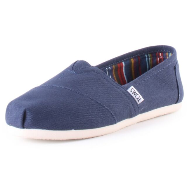 Toms Classic Mens Navy Canvas Slip On