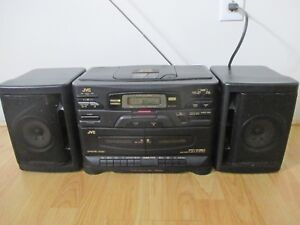 Details about JVC PC-X130 AM/FM Radio Cassette Boombox w/ Detachable  Speakers TESTED - READ