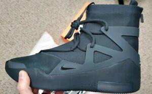 Nike Air temor de Dios 1 Triple Negro