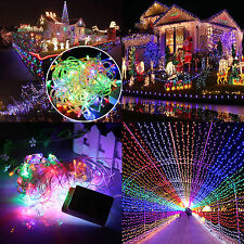 Multi Color 20m 200 Led Christmas Xmas Fairy String Lights Decor Party Wedding