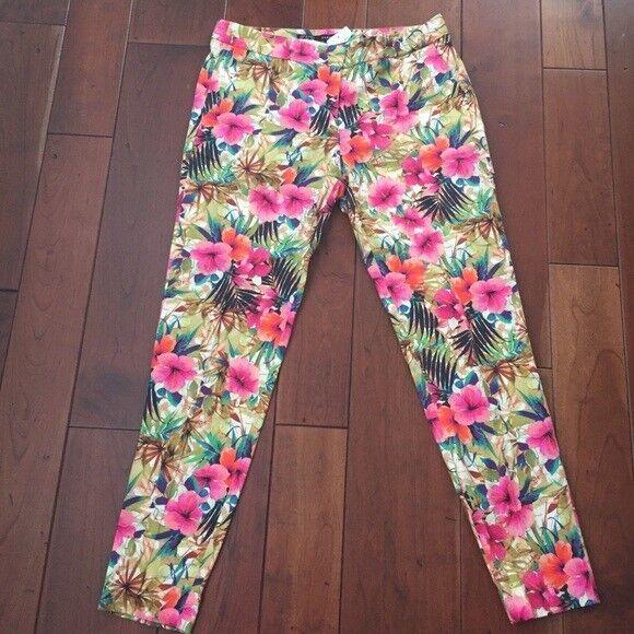 SALE  Zara Basic Floral Print Skinny Jeans S