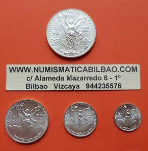 MEXICO-1-2-1-4-1-10-1-20-ONZA-1993-Serie-LIBERTAD-UNC-4x-SILVER-COINS-OZ-Mejico