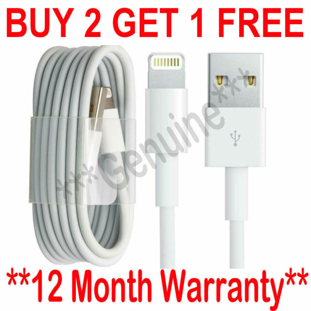 Genuine Charging Cable Charger Lead for Apple iPhone 7,7plus,6,6plus,5,5c,5s