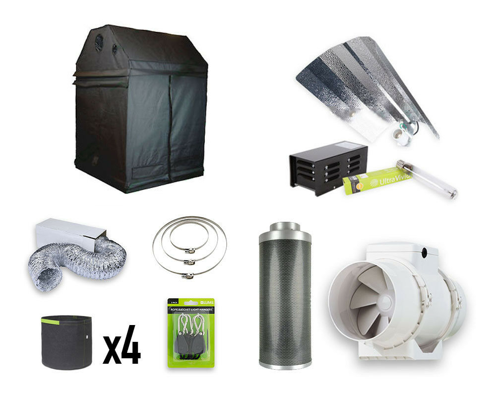 1.2m x 1.2m x 1.8m Roof Grow Tent Kit