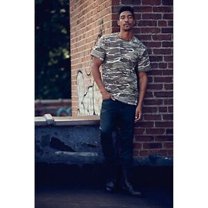 f556a36f615 Men Camouflage T Shirt Short Sleeve Woodland Army Camo Military ...