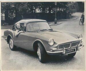 Reliant-Sabre-Closed-original-b-amp-w-Press-Photograph-1962