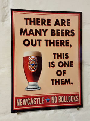 METAL SIGN Man Cave bar 2 Sizes Available ideal for pub NEWCASTLE BROWN ALE
