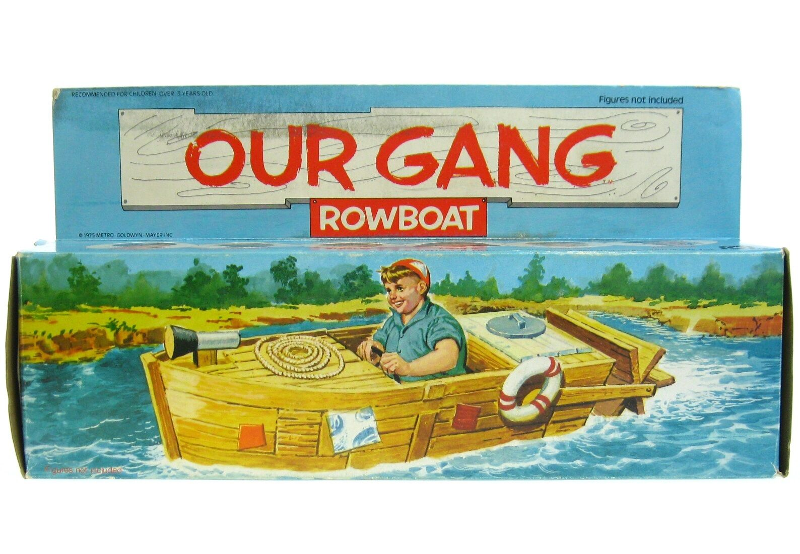 Vintage 1975 Mego Our Gang 1930's Little Rascals Rowboat Paddle Boat Mint w/Box