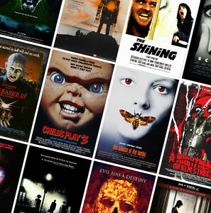 CLASSIC HORROR MOVIE POSTERS - A4 - A3 - A2  HD Prints - Jaws, Shining, Exorcist