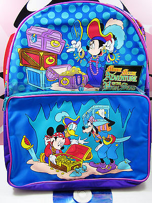 WALT DISNEY Mickey Mouse Adventure High Seas Kids Backpack School Bag Vintage