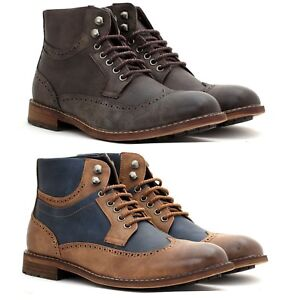 Détails sur Homme Cheville à Lacets Causal Chelsea Rétro Richelieu à Bottes Smart désert militaire Chaussures afficher le titre d'origine
