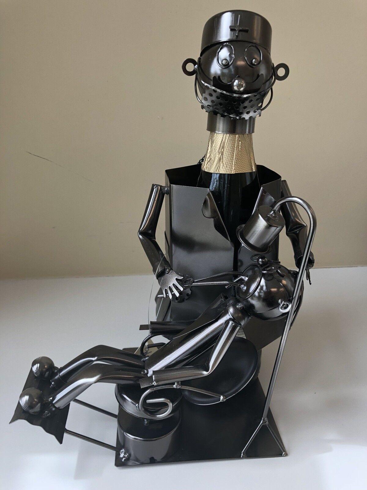 Porte bouteille vin mâle Dentiste Vin Caddy