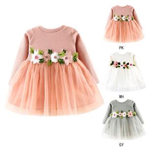 Kinder Mädchen Baby Kleid Blumen Tutu Tüll Prinzessin ...
