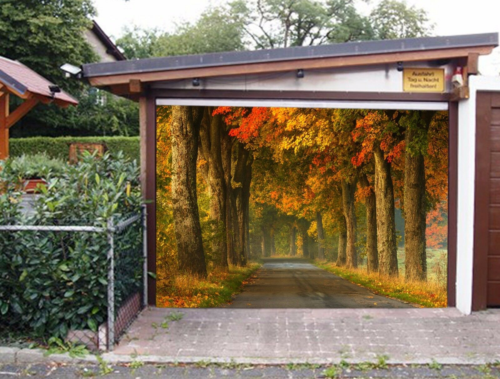 3D Autumn Woods 5 Garage Door Murals Wall Print Decal Wall AJ WALLPAPER AU Lemon