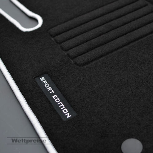 Velours Logo Fußmatten für Mercedes C-Klasse W203 Limousine Bj.2000-03//2007 si