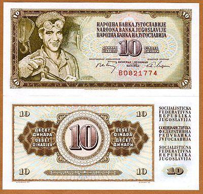 10 Dinara P-82 1968 Yugoslavia CV-$25 UNC 82b