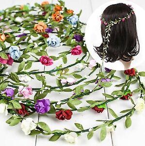 bandeau-pour-cheveux-fleurs-couronne-Petales-Roses-tressee-Parure-serre-tete