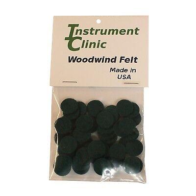 Green 1//16 Thick Pack of 50 Instrument Clinic Woodwind Felt Discs 11//16 Diameter