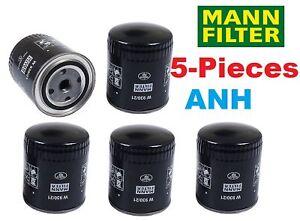 5-Pieces Mann Filter W930/21 Oil Filter Audi & Passat