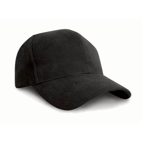 Result Pro-Style Heavy Beechfield Brushed Headwear Mens Sandwich Peak Cotton Cap