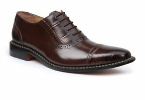 Giorgio-Brutini-Mens-Castin-Leather-Dress-Oxford-Shoe-Brown-Sizes-8-5-14-M