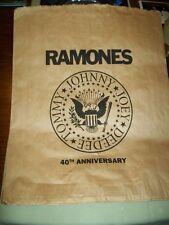 The Ramones        PROMO SHOPPING BAG        40th Anniversary