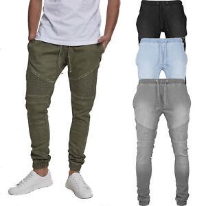 zu verkaufen erstklassige Qualität größte Auswahl an Details about Urban classics Biker Denim Jogging Trousers Jeans Sweatpants  Joggers Skinny Slim