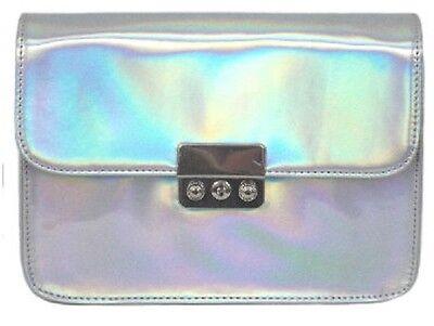 Damen Ella Hologramm Effekt verstellbarer Gurt Verschluss Umhängetasche