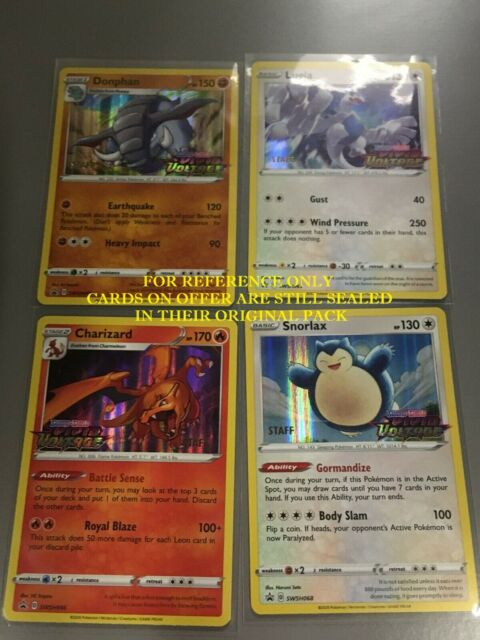 POKEMON VIVID VOLTAGE STAFF PROMO CARDS SEALED - Charizard Donphan Lugia Snorlax