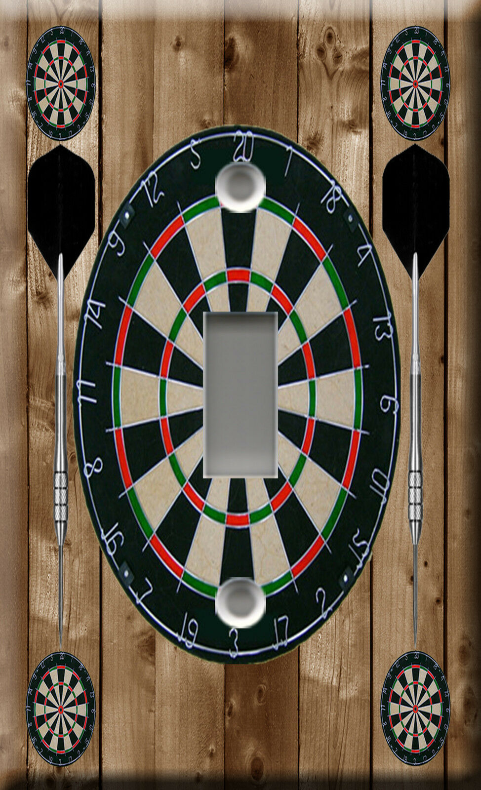 Light Switch Plate Cover Flechette competition Dart game sports bar brown