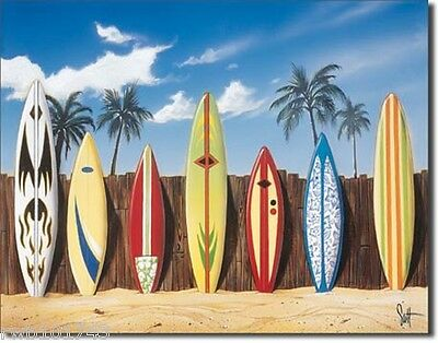 Surf Boards metal art poster TIN SIGN beach tiki bar surfer gift wall decor 1198