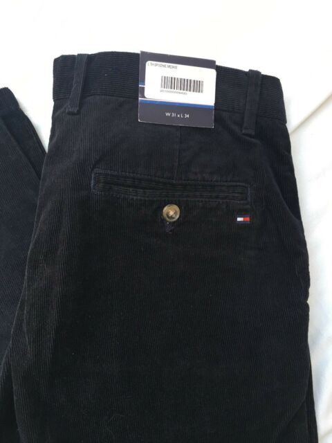6647a935130cb Tommy Hilfiger Men s Mercer Chino Corduroy Navy Blue 31x34 for sale online