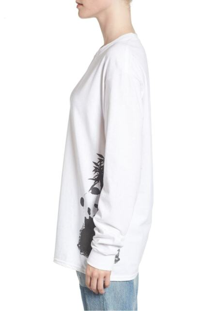 Women s Hanes Rob Pruitt x RxArt Graphic Long Sleeve T-Shirt White Size  Large 653e4d908a