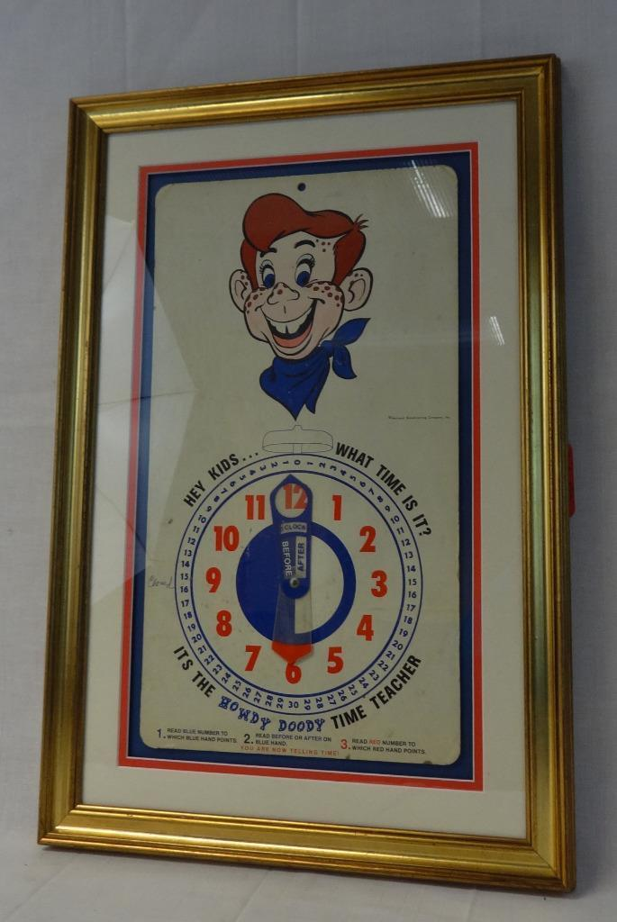 Beautiful vintage cartoon Howdy Doody time teacher spinner game  Made by NBC Inc