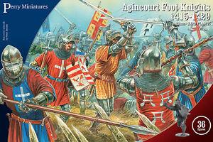 Agincourt-Pied-Chevaliers-1415-1429-Perry-28MM-Jeu-de-Guerre-Envoye-1ST