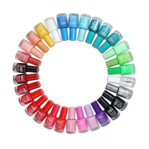 24 x Nail Varnish Polish Set 22+ Different Bright Vivid Colours Artificial Nails