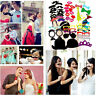 58pcs DIY Party Masks Photo Booth Props Mustache On A Stick Wedding Party Favor~