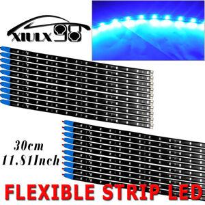 20pcs-Blue-15LED-30CM-Flexible-Light-Strip-Bar-for-Car-Boat-Truck-Waterproof-12V