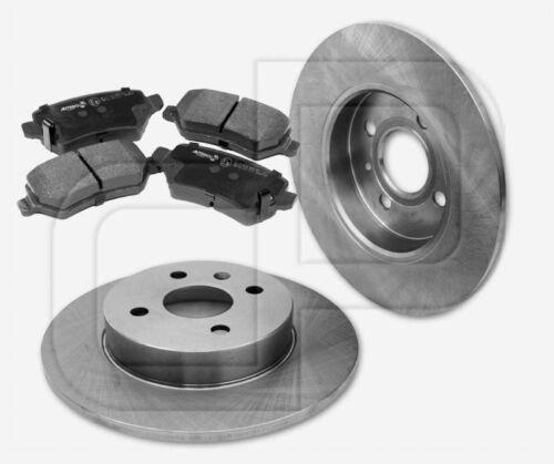 2 Bremsscheiben 4 Bremsbeläge OPEL Astra H TwinTop 4 Loch Felgen hinten 257 mm